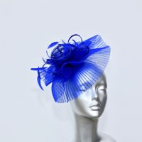 Royal blue small fascinator 16362/SD242